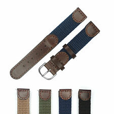 Italy Genuine Leather Nylon Watch band Strap 16mm 18mm 20mm 22mm for DW Watch