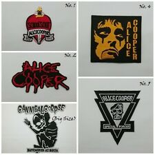 Alice Cooper Sew Iron On Embroidered Patch Hard Metal Rock Music Band Applique