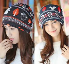 New Fashion Women Deer Knitted Winter Warm Hat Braided Baggy Beret Beanie Cap  X