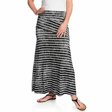 New One World Stretch Knit Fold-over Pieced Maxi Skirt S,M, L