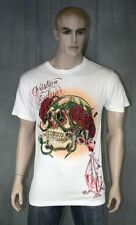 Christian Audigier Skull Roses Stones T-shirt Off White Basic Back