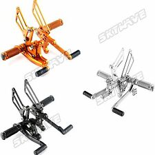 T509 T595 955i Speed Triple -10 Rearsets Rear Sets Footpegs Footrests Adjustable