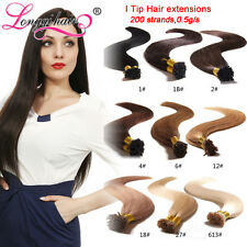 I tip hair extension 200s  pre bonded stick tip I Tip human hair extensions