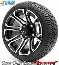 """Golf Cart 12"""" Voyager SS Wheel/Rim and (215/35-12 or 215/50-12) DOT Tire Combo"""