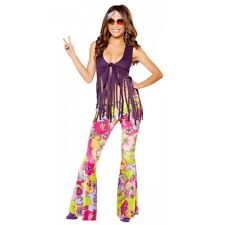 Hippie Costume Adult 60s 70s Halloween Fancy Dress