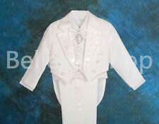 5pc Set Boys Formal Tuxedo TUX Suit Vest Wedding Dinner Party Size 6mon-8 ST011A