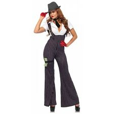 Gangster Costume Adult Sexy Roaring 20s Halloween Fancy Dress