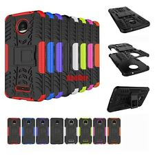 For Motorola Z 3D 2in1 2-Layer Shock Skip Proof Grenade Rugged Hybrid Tough Case