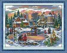 Kit broderie point de croix imprimé/compté,11CT/14CT,Cross Stitch Treasure time