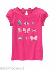 NWT Gymboree Island Hopper 6,8,10 Pink Butterfly List Tee Shirt Top