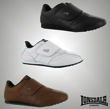 Mens Branded Lonsdale Everyday Sports Balham Leather Trainers Shoes Size 7-12