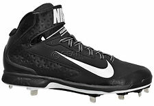 new-95-nike-air-huarache-pro-34-mid-metal-mens-baseball-cleats-black