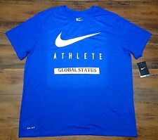 NIKE MENS SWOOSH ATHLETE GAME ROYAL BLUE WHITE TRAINING SHIRT 739420 480 LARGE