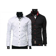 Mens Business Designer Sexy Slim Fit Dress Shirts Formal Casual Shirt Size S~XL