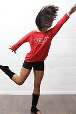 Flashdance Delta warmer, red - sweater fleece sweatshirt - Sigma Theta inspired