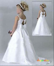 Formal Wedding Evening Flower Girls Dress Pageant birthday gift Christmas Prom