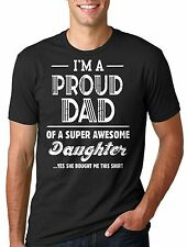 Father's Day Gift Gift for Dad Father Proud Dad of awesome Daughter Tee Shirt