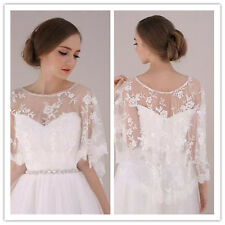 White Ivory Lace Shawl Bolero Wedding Jacket Bridal Custom US 4-26 Lace Fashion