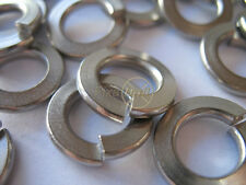 M4, M5, M6, M8, M10, M12, Spring Washers, Zinc Plated, Single Coil, Flat Section