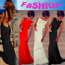 Sexy Women Bandage Backless Cocktail Party Dress Formal Evening Gown Long Dress