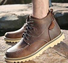 Men Dress genuine leather fur lined military desert hiking shoe Ankle Boots H354