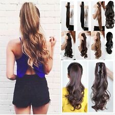 Clip In Ponytail Pony Tail Hair Extension Jaw Wrap On Hair Piece As Human B81