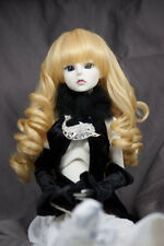 Doll Wig Curly w/ Pig Tails Golden Blonde BJD Ball Jointed Doll 6-7 8-9