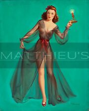 Art Frahm-Pin-Up With A Candle, Canvas/Paper Print, Pinup Girl