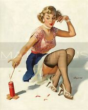 Gil Elvgren-Looking For Trouble, Canvas/Paper Print, Pinup Girl
