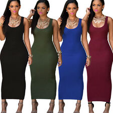 Fashion Women Formal Sleeveless Evening Party Cocktail Long Dress Clubwear G