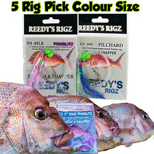 5 Snapper Snatchers fishing Rig Flasher Float Hook Paternoster Rigs Running