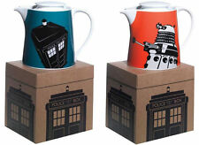 Dr Who / Doctor Who Stoneware Teapot Dalek / Tardis - New Official BBC In Box