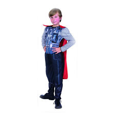 Thor Superhero Avengers Muscle Costume Action Suit,Cape, Pants M/L Boys Child