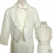 Boy Wedding Prom Musical Recital Formal Party Tuxedo Suit Ivory sz 14,16,18, 20