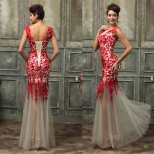 Applique Long Ball Gown Party Prom Cocktail Wedding Bridesmaid Evening Dress New