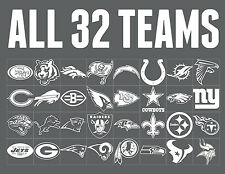 NFL WINDOW DECALS ALL 32 TEAMS!! FREE SHIPPING!!