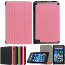 """New Ultra Slim PU Leather Case Stand For 7"""" Amazon Kindle Fire HD 7 2015 Tablet"""