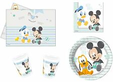 Baby Mickey Mouse Birthday Party Tableware Napkins Plates Cups Tablecover