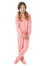 Little Girls Infant - Toddler Pink Fleece Footed Pajamas Onesie Sleeper 12M - 4T