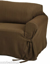 Vinice Heavy-duty Jacquard Fabric Chocolate Brown Chair, Loveseat Sofa/Couch