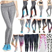 Womens High Waist Leggings Stretch Yoga GYM Sport Jogging Training Pants Fitness