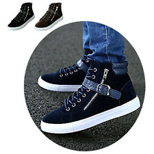 Men High Top Flats Lace Up Board Shoes Leisure Sneakers Trainers Boots