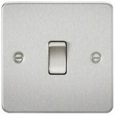 Knightsbridge 8341BC FLAT PLATE 20A 1G DP SWITCH - BRUSHED CHROME