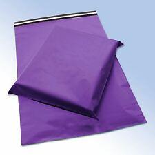 """STRONG PURPLE POSTAL PLASTIC POSTAGE POLY MAILING BAGS 13""""x 19"""" AND 17""""x 22"""""""