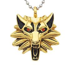 Vintage Retro Men Silver Gold Wolf Long Chain Charm Necklace Pendant Jewelry