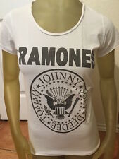 Amplified Ramones Womens White T-shirt Vintage washed Small and Large
