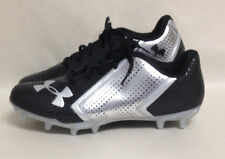 Under Armour Low MC Mens Football/Lacrosse Cleats - Black/Silver Sz 8,11,12