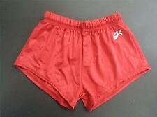 GK BOYS AND MENS GYMNASTIC SHORTS - RED - SIZE CHILD SMALL TO ADULT XSMALL