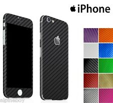 Textured Carbon Fibre Skin Sticker For Apple iPhone Wrap Case Decal Protector