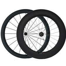 Front 50mm Rear 88mm Clincher Road Bike Carbon Wheels Bicycle Ultra Light Wheel